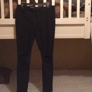Mossimo Black Distressed Jeans Size 10/30